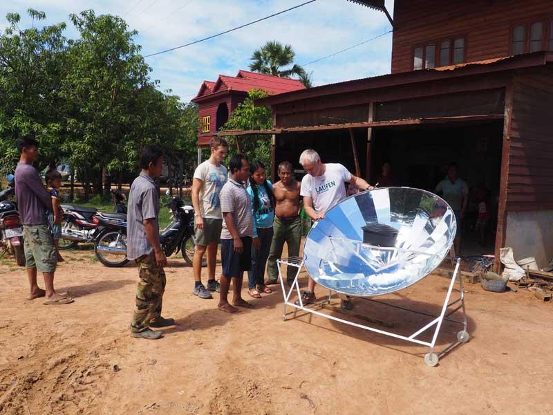 Solarkocher Schulung und Bau