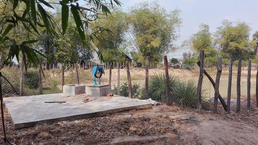 Wasserbecken in Damrey Dorl