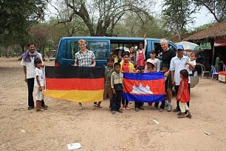 Besuch in Angkor Wat mit den Kindern aus Preksromot