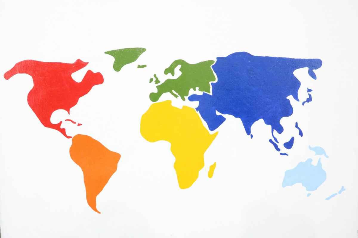 Weltkarte in der Bildungsstätte